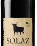 whine Solaz tempranillo Bio, 75 cl.